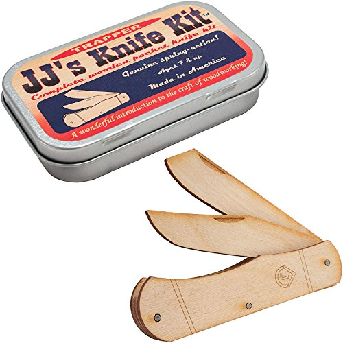 Channel Craft, JJ's Pocket Knife, Wood Craft Kit, Wooden Pocket Knife