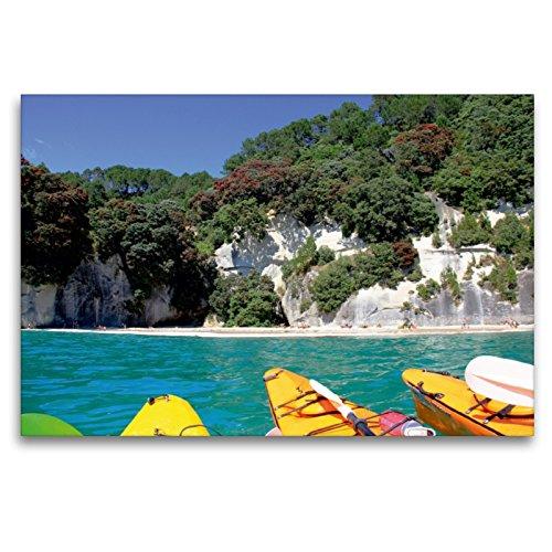 Premium textiel canvas 120 x 80 cm dwarsformaat kalkfelsen van de Coromandel Peninsula | muurschildering, HD-beeld op spieraam, afgewerkt beeld op hoogwaardig vlies, canvasdruk van Jana Thiem-Eberitsch