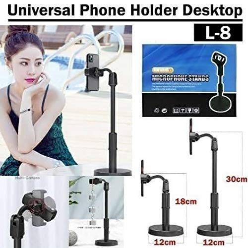 DEVICE OF URBAN INFOTECH Heavy Duty Adjustable Smartphone Phone Stand Holder for Live/Vlogs Special Design for Streaming, Video Blogs, Online Classes, Streaming, Shooting Field, Online Singing(30 cm)