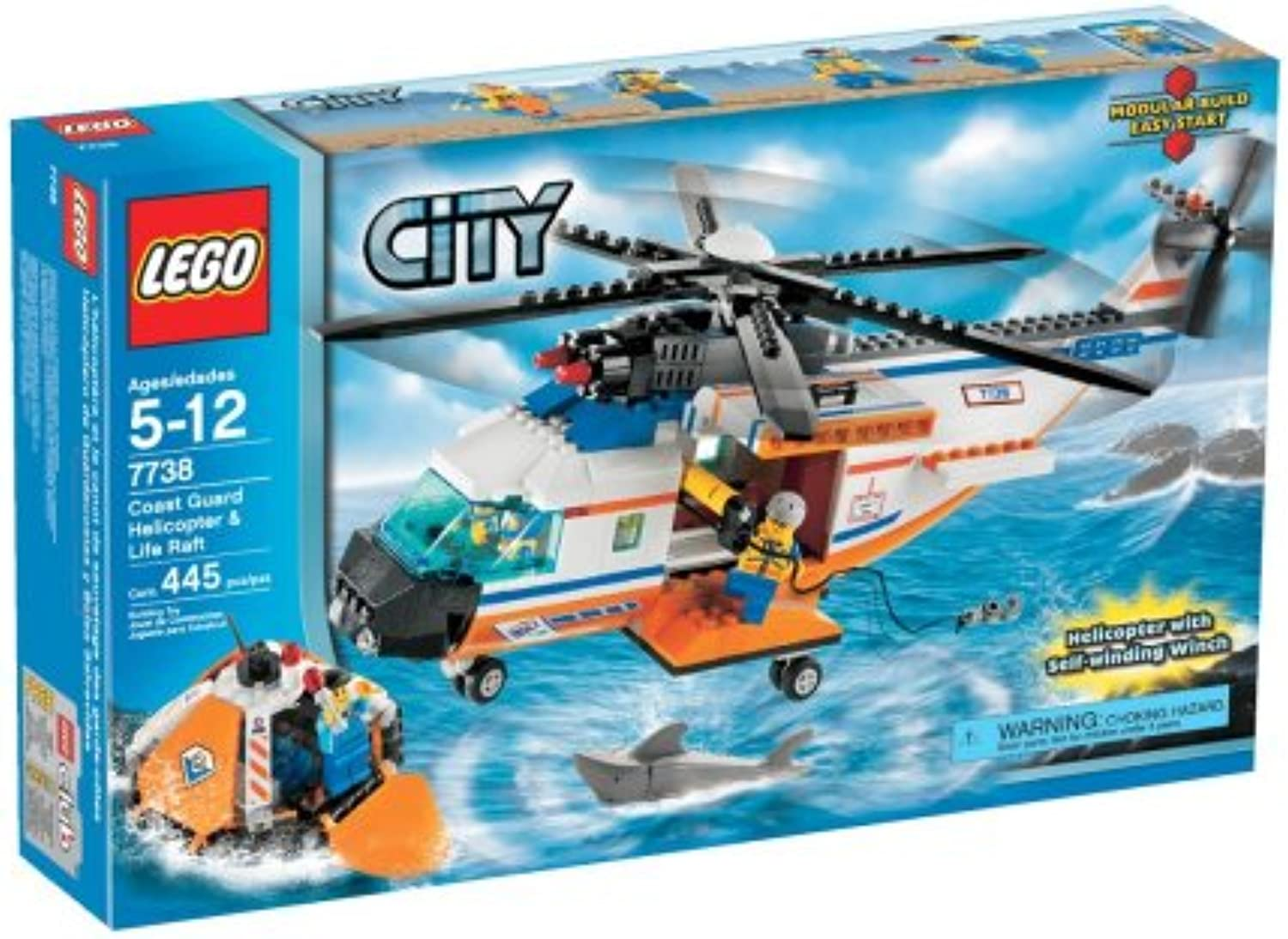 LEGO City Coast Guard Helicopter and Life Raft by LEGO