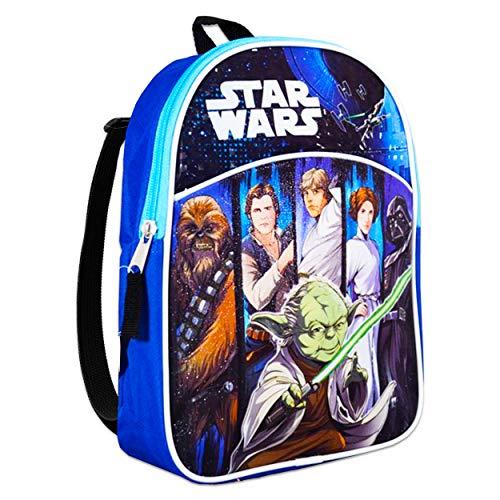 "Star Wars Mini Backpack for Preschool Toddlers ~ Premium 11"" Star Wars Backpack for Kids (Star Wars School Supplies Bundle)"