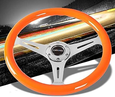 SCITOO 320mm Universal BK DISH Black Spoke Red Stitch Lightweight Car Racing Steering Wheel Sports Drifting Wheel /&Horn Button Aluminum Black