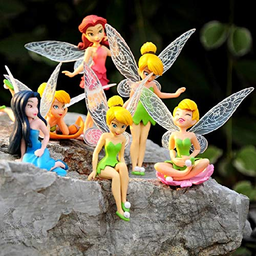 ZAMTAC 6 pcs/Set Kids My Tinkerbell Set Toy Action Dog Dolls for Children Birthday Holiday Little Girls Toys