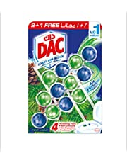DAC Toilet Rim Block - Pine (150g - Pack of 3 x 50g) - 4 Function Formula With Air Freshner Effect, Cleaning Foam and Dirt and Anti-Limescale Protection