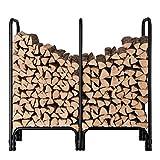 ORIENTOOLS Firewood Log Rack, Fireplace Wood Holder for Indoor & Outdoor Stand Steel Pile Stacker (145cm Long)