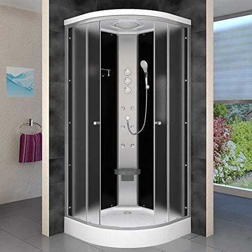 AcquaVapore DTP10-2311 Dusche Duschtempel Duschkabine Fertigdusche 100x100cm OHNE 2K Scheiben Versiegelung