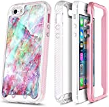 E-Began iPhone SE Case, iPhone 5/5S Case, Full-Body Protective Rugged Bumper Cover with Built-in Screen Protector, Ultra Thin Shockproof Impact Durable Case for iPhone 5/5S/SE -Fantasy