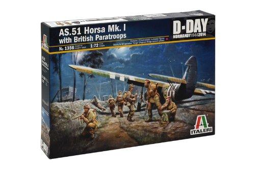 Italeri 1356 - As-51 Horsa Mk.I  W/British Paratroopers Model Kit  Scala 1:72