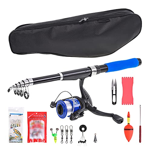 Jabroyee 6.89FT Fishing Rod and Reel Combos, Fishing Rod with Reel Combo Sea Saltwater Freshwater Kit,12 Kind of Fishing Accessories, Best Fishing Accessories Gifts for Men Beginner Fishing