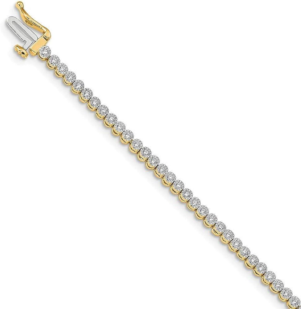14K Yellow Gold Bracelet Ranking TOP15 Diamond Tennis OFFicial shop