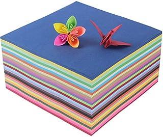 200PCS 25色 折り紙 両面 おりがみ ペーパー 千羽鶴用 おりがみ 単色 手作り 折紙 15x15cm