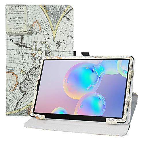 LFDZ Samsung Galaxy Tab S6 10.5 hülle,360° Drehbarer Stand Cover Premium Schutzhülle Tasche Etui mit Ständerfunktion Case für 10.5