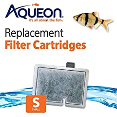 Fits Aqueon QuietFlow Filter: E Internal 10 gallon Ready-to-use cartridge contains high quality activated carbon that keeps water clean, rinse before replacing Installs in seconds: align cartridge bottom key slot for an accurate fit inside the Filter...