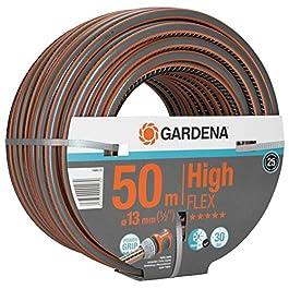 Gardena Tuyau HighFLEX Comfort 13 mm (1/2 pouce), 50 m : Tuyau d'arrosage avec profil Power-Grip, pression d'éclatement…