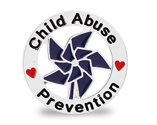 Fundraising For A Cause | Child Abuse Prevention Awareness Pins – Pinwheel Pins for Child Abuse/Neglect Prevention Fundraising and Gift-Giving (1 Pin)