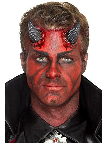 Smiffys Latex Teufelshörner Hörner Teufel mit Klebemittel Halloween Kostüm Z