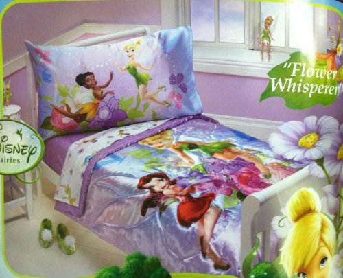 purple tinkerbell and fairy friends girls bedding set