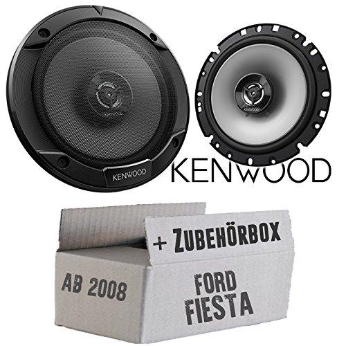 Lautsprecher Boxen Kenwood KFC-S1766-16cm 2-Wege Koax Auto Einbauzubehör - Einbauset für Ford Fiesta MK7 Front Heck - JUST SOUND best choice for caraudio