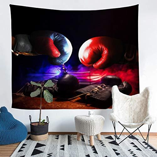 Tapiz de boxeo para colgar en la pared, diseño de juegos de pugilismo, arte de pared para dormitorio, sala de estar, tamaño mediano, 128 x 152 cm