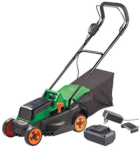 AGT Professional Kabelloser Rasenmäher: Akku-Rasenmäher, Schnell-Ladegerät, 4-stufige Schnitthöhe, 25 l, 4 Ah (Rasenmäher mit Elektro-Antrieb)