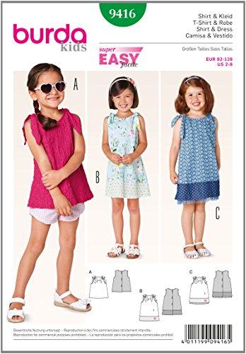 Burda Schnittmuster Shirt, Kleid 9416