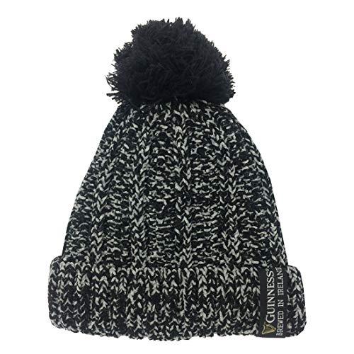 Guinness Damen G6231 Beanie-Mütze, schwarz, grau, Einheitsgröße