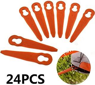 Chuancheng 24Pc Plastic Cutter for Stihl PolyCut 2-2 Garden Lawn Mower Trimmer 4008 007 1000 Grass Cutter Replacement Tool