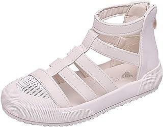 子供のカジュアルサンダル王女の靴、女の子の柔らかいアウトドアウォーキングシューズ、軽量の滑り止めスニーカー、学生/ 10代の若者/子供に適して