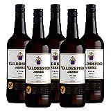 Vino Jerez Seco Valdespino de 75 cl - D.O. Jerez - Bodegas Grupo Estevez (Pack de 5 botellas)