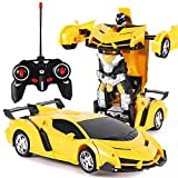 vaslon remote control car robot, transformer car toys, 360 degree rotating with one-button