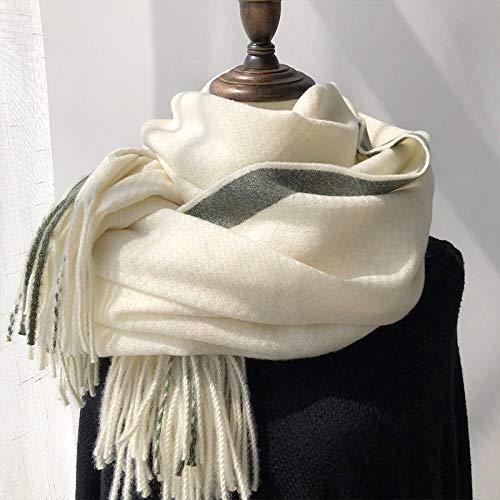 KHWZ Schals für Damen Schal Goldfaden Clip Blumenschal Frauen Winter Herbst und Winter Verdickung warm Schal weiß