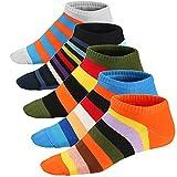 Ueither Calze da Uomo Coloratissimi in Cotone Stilisti Sportive Sneaker Calzini Corti Fantasia dal Design Comodo (39-46, Colore 10)