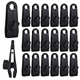 20Pack Heavy Duty Tarp Clips, Reusable Lock Grip Tent Clamps with Thumb Screw, Strong Tarp Canvas Clips, Tent Clip Clamp for Tarps, Awnings, Camping, Car Covers, Caravan Canopies, Swimming Pool Covers