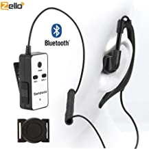 Bluetooth Headset with PTT, ZELLO Wireless PTT, Rechargeable Finger PTT and Earpiece with Mic for Zello Suitable for Cycling and Outdoor Sports