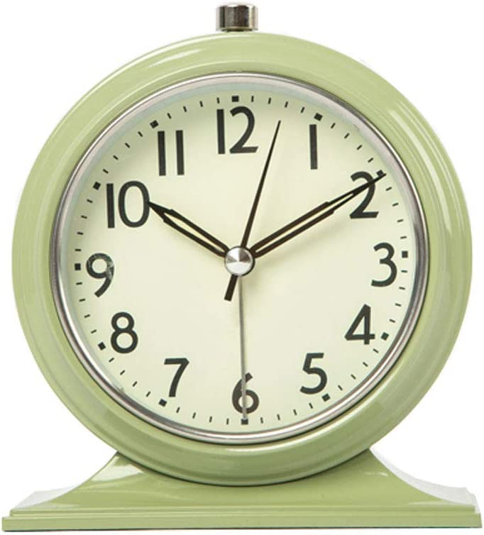 Desk Table Clock Max 90% OFF Metallic Paint N Alarm Small sale Retro with
