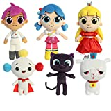 Aurora True and The Rainbow Kingdom Main Character Complete Plushie Set: True & Bartleby, Grizelda & Frookie, Zee, Rainbow King, and Drawstring Bag
