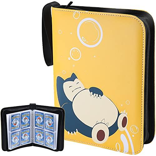 ProCase Karten Tragen Tasche Album für Pokemon Card Game, KartenordnerSammelkartenHalter, Pokemon Karten Halter Ordner Buch 400 Karten -Gelb