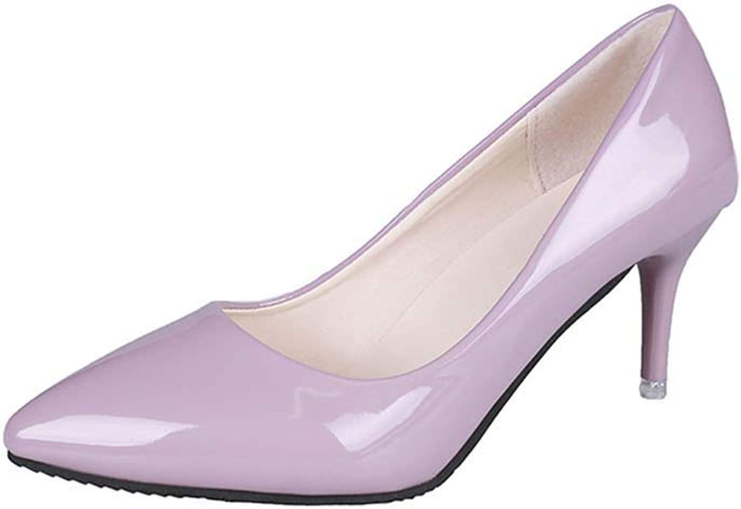 Woman shoes Pointed Fine with Heels Shallow Mouth High Heels Patent Leather Summer Pumps