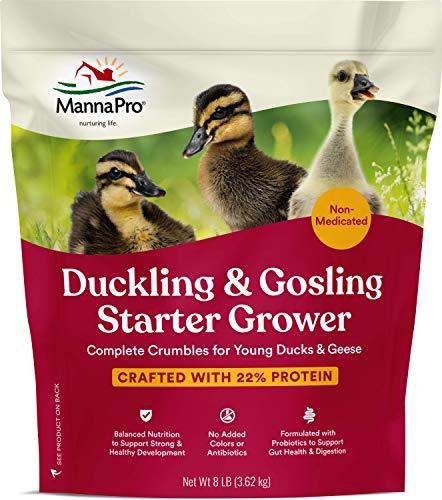 Manna Pro Duck Starter Grower | Duck Food, Duck Pellets, Chick Feed | 8 Pounds