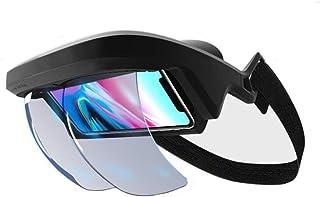 ALPEG ARヘッドセット、FOV 90°+拡張現実ホログラフィックプロジェクションARビューアスマートヘルメット iPhone & Android 4.5-5.5用 臨場3Dビデオ/ゲーム用
