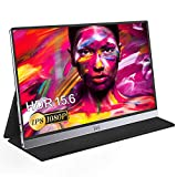 Portable Monitor - IVV 15.6' 1080P Full HD USB Type-C & HDMI External Monitor for Laptop/PC/Smartphones/Xbox One/Switch/PS3 PS4 PS5, Eye Care Display with Dual Speakers, Vertical Screen, Metal Shell