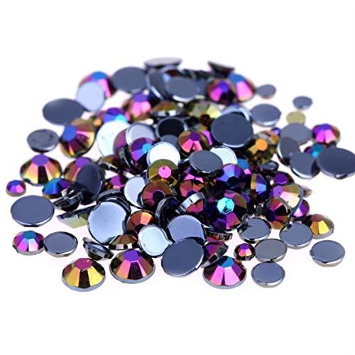 Diamantes de imitación de acrílico de alta calidad, redondos, no calientes, para ropa, bricolaje, decoración de uñas, café AB, 2mm 10000pcs