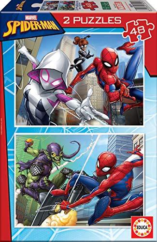 Educa Spider-Man, 2 Puzzles infantiles de 48 piezas, a parti