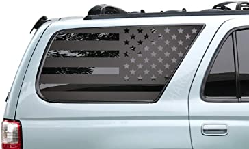 Toyota 4Runner - USA American Flag Decals in Matte Black for side windows - FR9A
