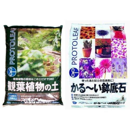 プロトリーフ 観葉植物の土 14L かる〜い鉢底石セット