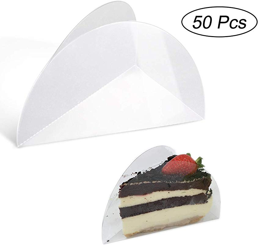 Cake Collars 5 5inch 50pcs Picowe Transparent Triangle Shaped Acetate Collar Clear Acetate Strips Mousse Cake Collar One Piece Design No Accessories Need Suit For Cake Decorating