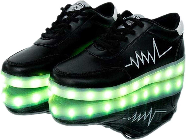 Smart.A LED Luminous shoes Low Help USB Charging Korean Version Lightning Couple shoes