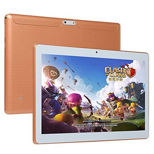 Tablet Dual SIM de 10 polegadas Android tablet IPS Display 1280px 16GB Bateria 4000mAh projetada para entretenimento portátil (Gold)