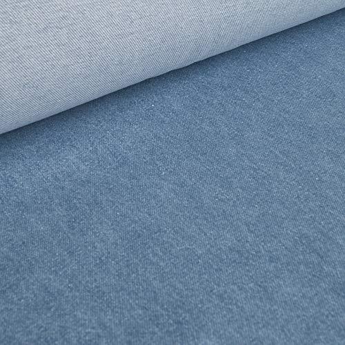 (12,99€/m) Jeany - Hochwertiger 12,5oz Denim Jeansstoff - 100% köperbindige Baumwolle - Hellblau - Meterware