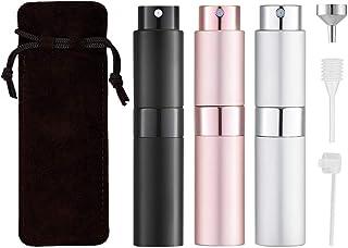 Toureal 8ML Atomizador Perfume Recargable (3 Piezas) Bote Spray Pulverizador Vacía Dosificador para Colonia (Set de Regalo)